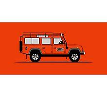 Land Rover Defender 110 Station Wagen G4 Challenge Photographic Print