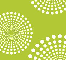 circular spots - lime green + white by Kat Massard