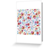 Cute watercolor hand paint winter floral Greeting Card