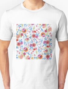 Cute watercolor hand paint winter floral Unisex T-Shirt