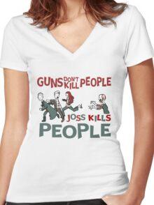 Joss Kills Women's Fitted V-Neck T-Shirt
