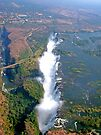 aerial of Victoria Falls, Africa (2) by Margaret  Hyde