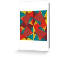 Triangular brushed pattern #4 Greeting Card