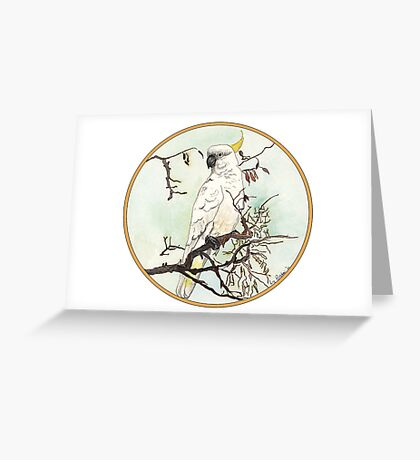 Cockatoo, Birds of Hepburn, 2012 Greeting Card