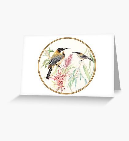 Eastern Spinebilled Finch, Birds of Hepburn, 2012 Greeting Card