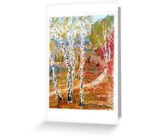 Autamn forest Greeting Card
