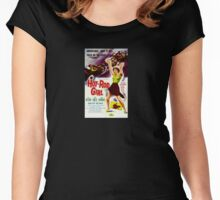 Hot Rod Girl Movie Poster Women's Fitted Scoop T-Shirt
