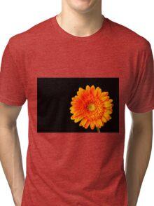 Orange Gerbera Tri-blend T-Shirt