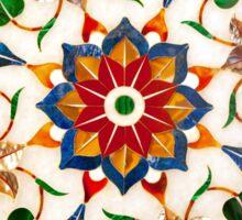 Taj Mahal Floral Design Sticker