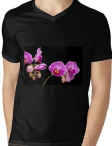 Pink Orchids Mens V-Neck T-Shirt