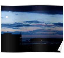 Auckland Harbour Sunset Poster
