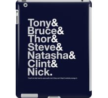 Avengers Team Jetset iPad Case/Skin