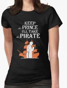 Captain Hook. Killian Jones. Womens Fitted T-Shirt
