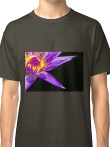 Blue Tropical Water Lily Classic T-Shirt