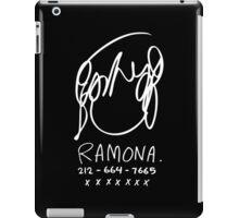 Ramona Flowers (on Black) iPad Case/Skin