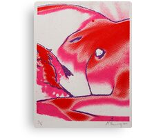 nude screen print Canvas Print