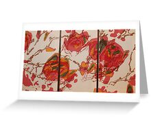 magnolia 3 piece Greeting Card