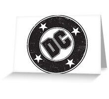 DC COMICS - VINTAGE BLACK Greeting Card