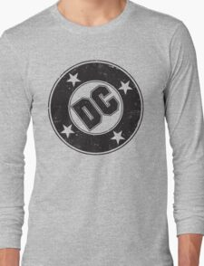 DC COMICS - VINTAGE BLACK Long Sleeve T-Shirt