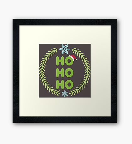 Santa - HO-HO-HO Framed Print