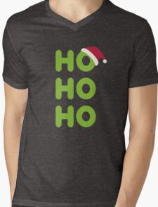 Ho-Ho-Ho Santa Mens V-Neck T-Shirt