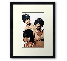 Diana Ross & the Supremes Framed Print