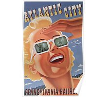 Atlantic City - Vintage Travel Poster Poster