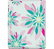 modern dahlia floral pattern 1 iPad Case/Skin