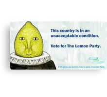 Lemon Party Canvas Print