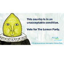 Lemon Party Photographic Print