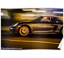 Panning a Porsche Poster