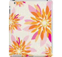 modern dahlia floral pattern 3 iPad Case/Skin