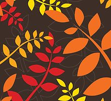 modern leaf pattern 1 by Kat Massard