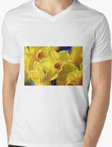 Yellow Daffodil Mens V-Neck T-Shirt