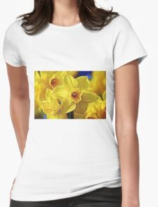 Yellow Daffodil Womens Fitted T-Shirt