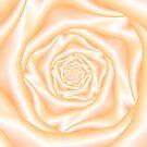 Light Peach Spiral Rose by Objowl