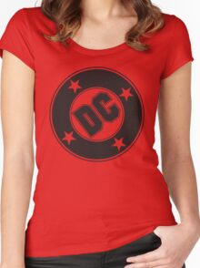 DC COMICS - BLACK Women's Fitted Scoop T-Shirt