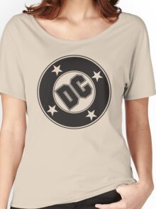 DC COMICS - BLACK Women's Relaxed Fit T-Shirt