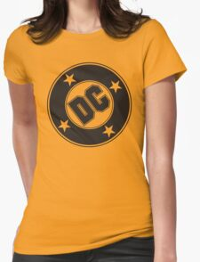 DC COMICS - BLACK Womens Fitted T-Shirt