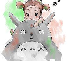 Tonari no Totoro by PsychoDelicia