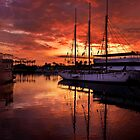 Rainbow Harbor sunset for iPad by Celeste Mookherjee