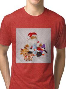 Christmas Fun for Teddy Tri-blend T-Shirt