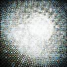 Abstract circle shape mosaic pattern by naphotos