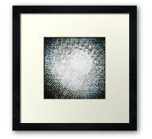Abstract circle shape mosaic pattern Framed Print
