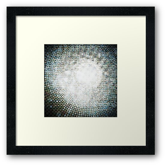 Abstract circle shape mosaic pattern by naphotos