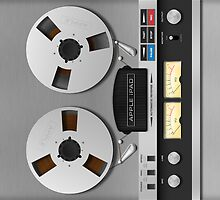 Reel-to-Reel Analogue Tape Recorder iPad Case by Alisdair Binning