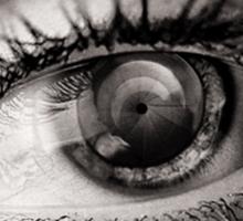 the eye as a lens Sticker