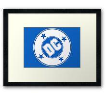 DC COMICS - WHITE Framed Print
