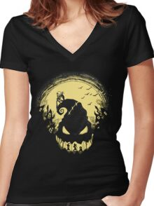Jack's Nightmare Women's Fitted V-Neck T-Shirt