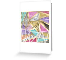 Geometric triangles watercolor hand paint pattern Greeting Card